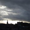 City skyline at dusk (actually a week later, from Calton Hill)