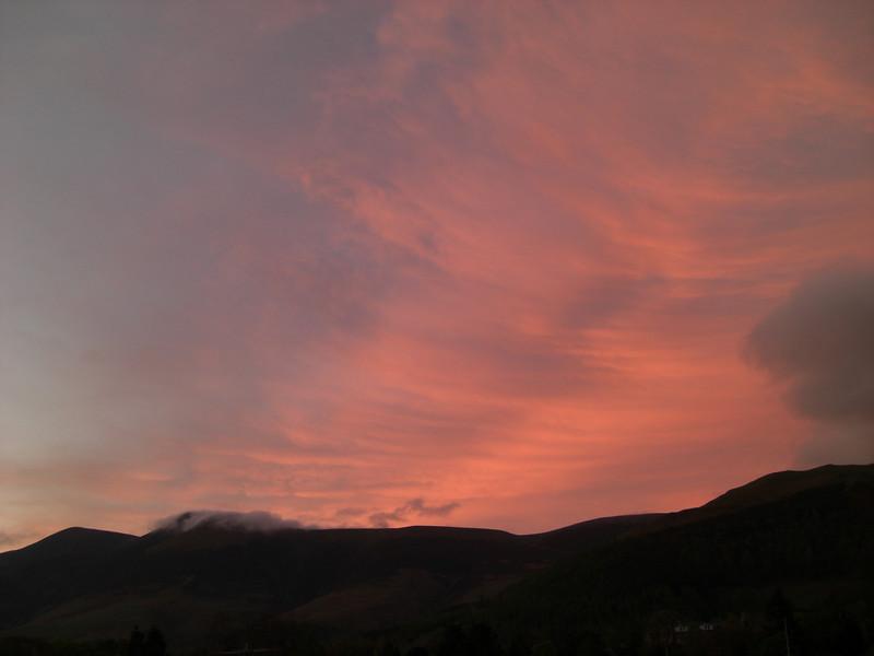 Evening over the Skiddaw range