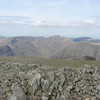 Crinkle Crags to the east seen from Scafell Pike summit