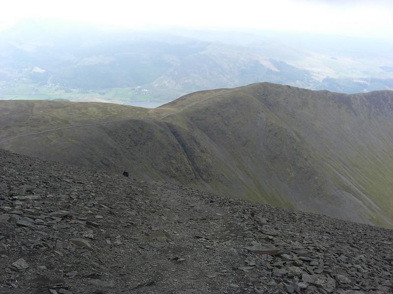Looking west across Longside Edge from just below Skiddaw summit plateau