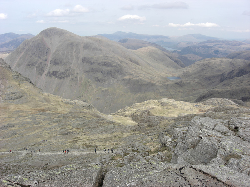 Great Gable, I think.  Looking west, down towards the corridor route from Scafell Pike summit.