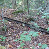 A rail that was left behind a little ways down the Wilderness Trail