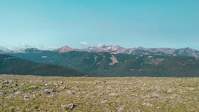 Ridge top!  Truchas Peaks in the distance