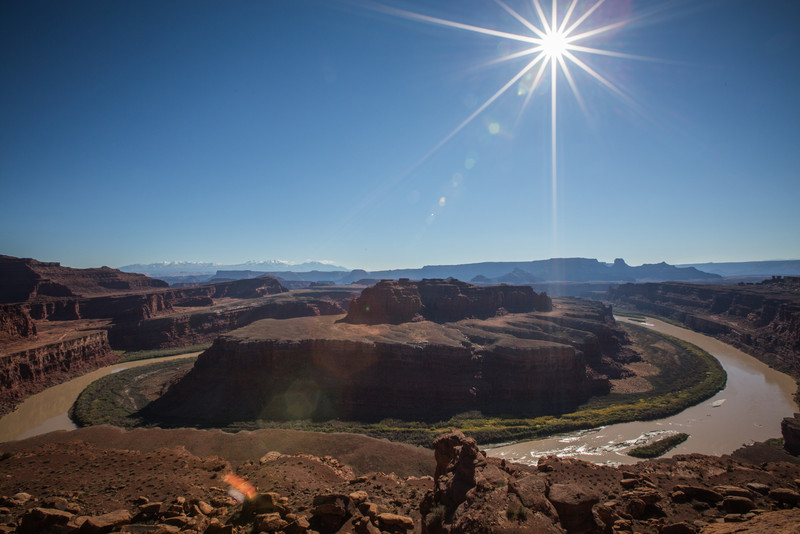 Colorado River from Gooseneck overlook on white rim road.