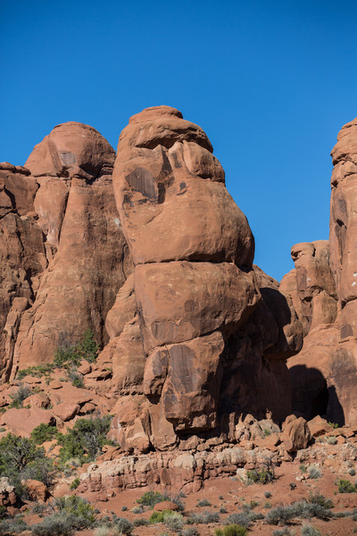 Rock formations at Arches National Park, Utah