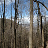 Partial views of a blue sky day over the Cumberland Plateau from the top portion of the Crystal Falls hike.