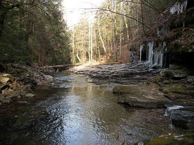 Pool below the uppermost cascade