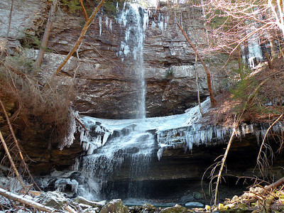 90 ft high Crystal Falls. First time we'd ever seen it with ice and snow.