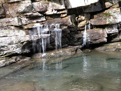 Plunge pool below falls