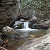 I am at chest level with a small pool and tiny cascade just above Upper Thornburg Falls