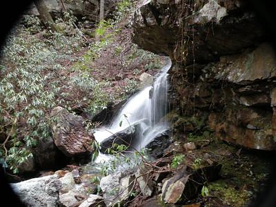 First glimpse of Big Bluff Falls