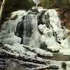 Lower Higgins Creek Falls, Higgins Creek Falls, Rocky Fork tract, Tennessee, Cherokee National Forest, Cherokee National Forest-North section, winter, hiking, Martin Garrett, skillet hikes, skillet, waterfalls, ice, snow, 2014, january,
