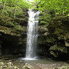 """Lost Creek Falls.  It's about 80 ft high. Comes out of a cave........ drops into a cave.<br /> There is no """"plunge pool"""" per se.  Never been here before in Spring. Only Winter and Summer."""