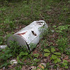 Some litter bug has discarded their old water heater back in the woods on the way to Dry Creek Falls.