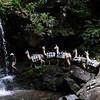 Grotto Falls Llama Train