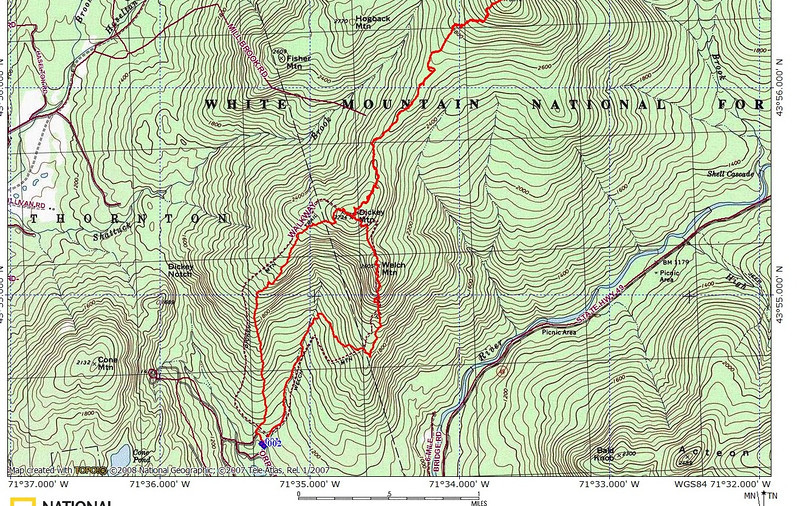 John Messinger was available to join me in an excursion to Welch & Dickey and its bootleg trail that leads up to Foss Peak on cold and clear Thanksgiving weekend.