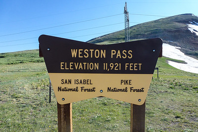 Weston Pass Trailhead