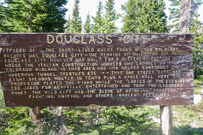 "Douglas ""City"" was a short term settlement for the railroad workers"