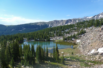 Opal Lake from higher railroad bed