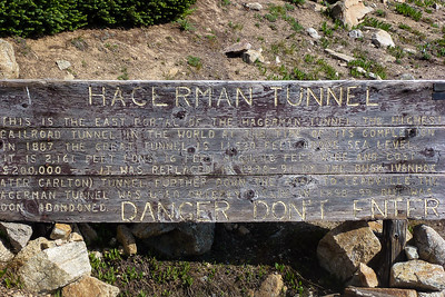 Hagerman Tunnel sign