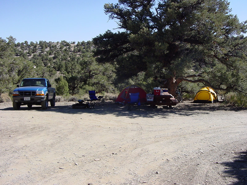 Our campsite at the GrandView Campground. Unbelievably, there was no fee for camping here. That is rare in California. 7/31/04