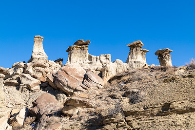 Row of Hoodoos on Canyon Rim