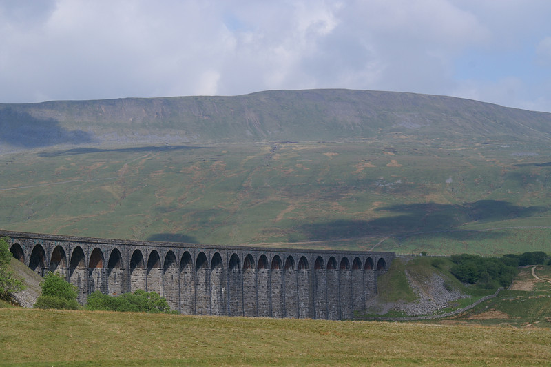 Ribblehead viaduct with Whernside beyond, from the Station Inn carpark.