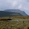 Ingleborough Hill rising behind Simon Fell, from the summit of Park Fell