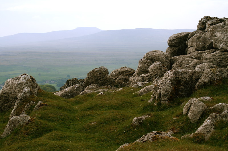 Ingleborough seen from the far side of Ribblesdale