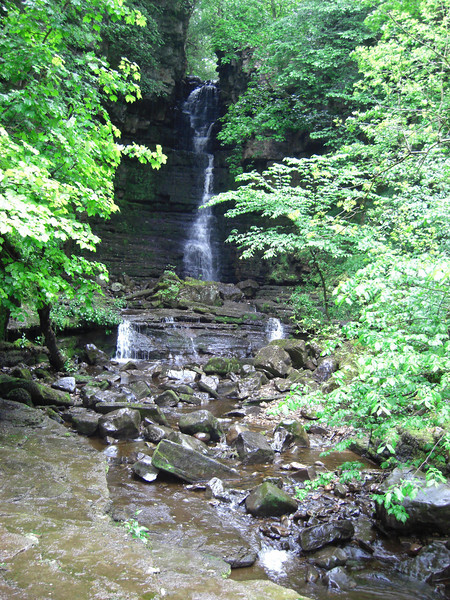 One of Wendy's special places: Mill Gill waterfall above Askrigg