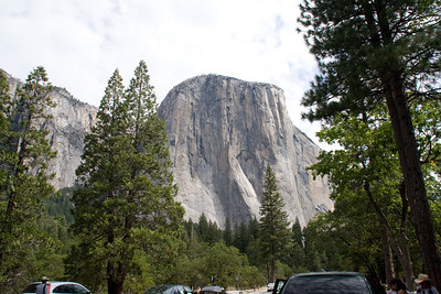 El Capitan, an astonishing hunk of granite towering 3600 feet straight up above the valley, issues an instant demand for everyone entering Yosemite Valley to stop and take a photo.