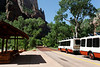 Shuttle bus through Zion National Park