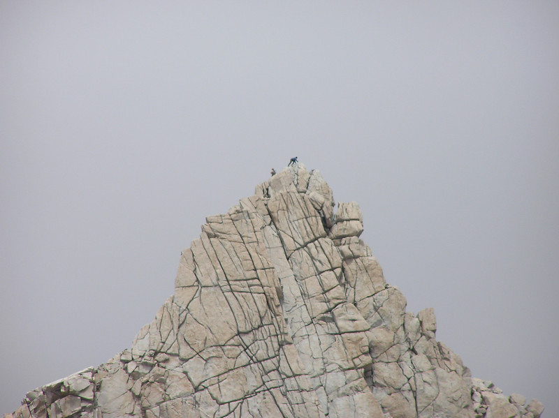 Look close - those are people on Mt. Muir