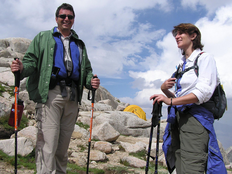 Dave and Barb at camp
