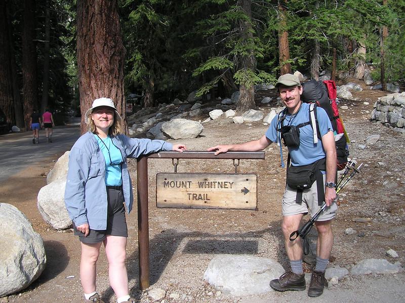Kay and Gary at the portal sign