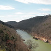 View of the Big South Fork River from Yahoo Overlook in Spring