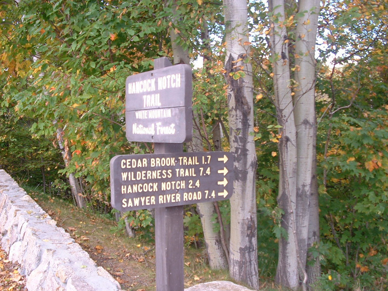 Trailhead at the hairpin turn