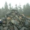 summit cairn on Mt. Hale