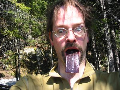My tongue's gone purple!