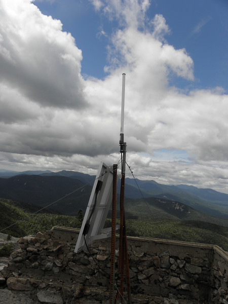 Repeater antenna and power source