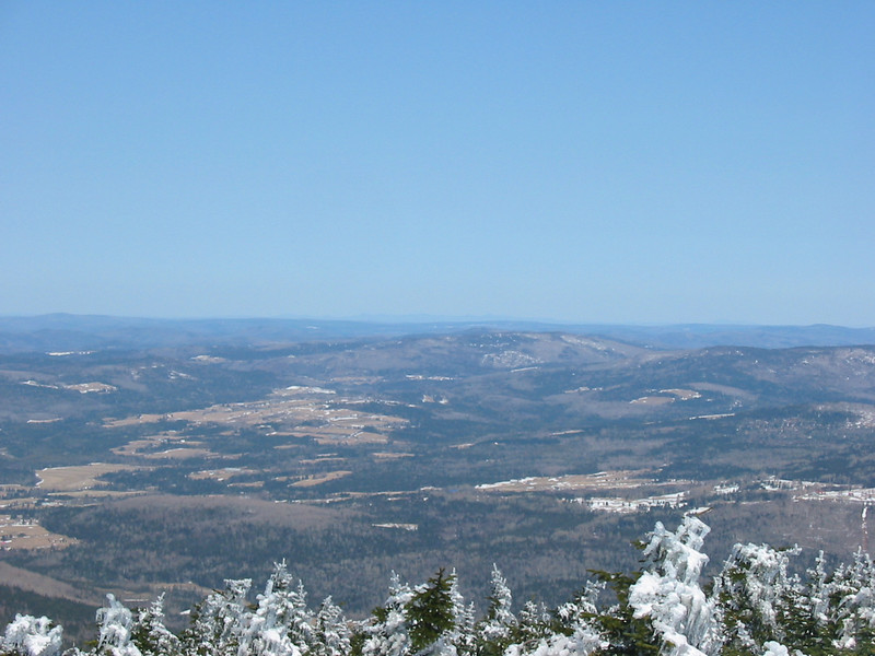 Mudget Mtn. and possible peaks near Stoke, Quebec barely visible