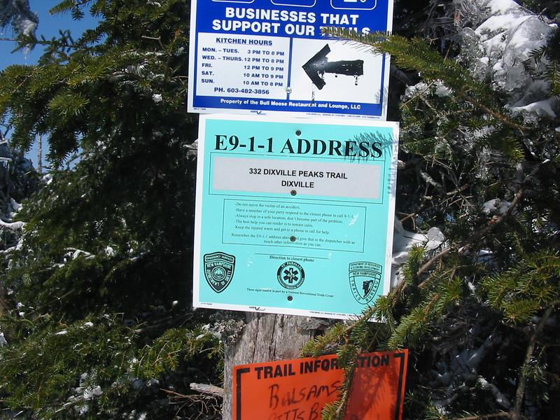 Dixville Peak has a street address!