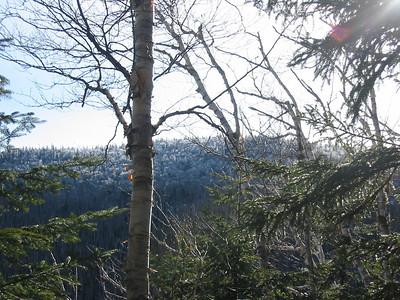 Sunlight comes over a ridge of Osceola
