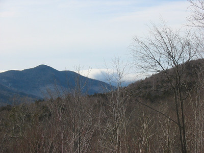 East mountains socked in