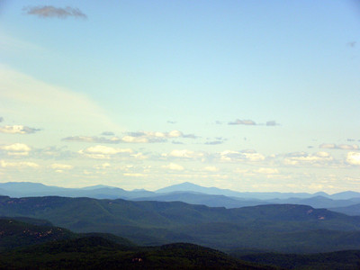 Tall mountain is Mt Blue in ME, just to the left may be Katahdin