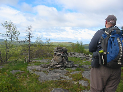 Brian and the interesting summit cairn
