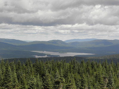 Second Conn. Lake with Monument 482 peak, Mont Megantic back to the right
