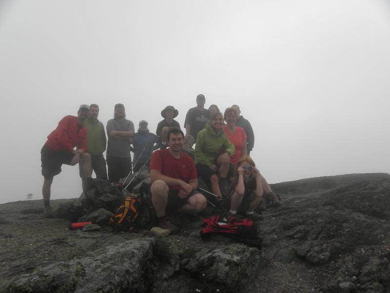 Foggy group photo