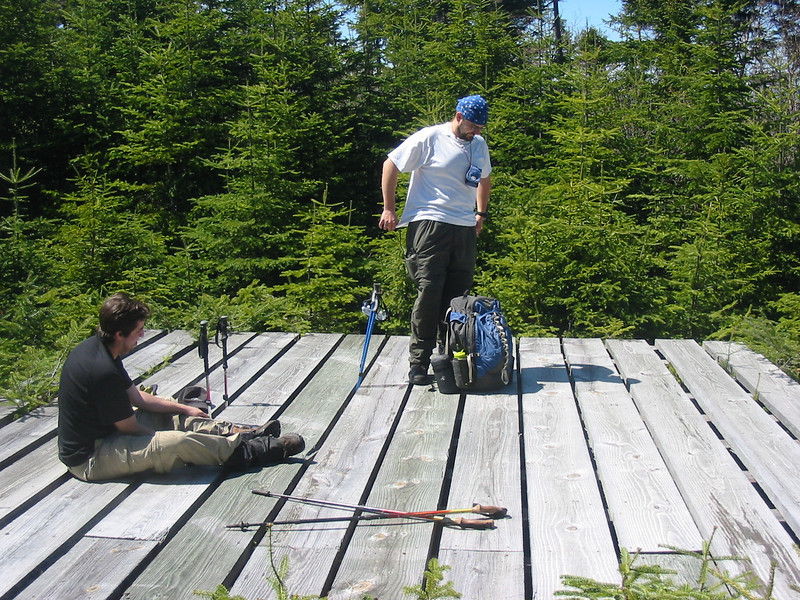 Brian and Greg on the platform
