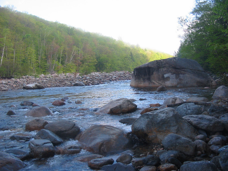 Big boulder on the East Branch of the Pemigewasset